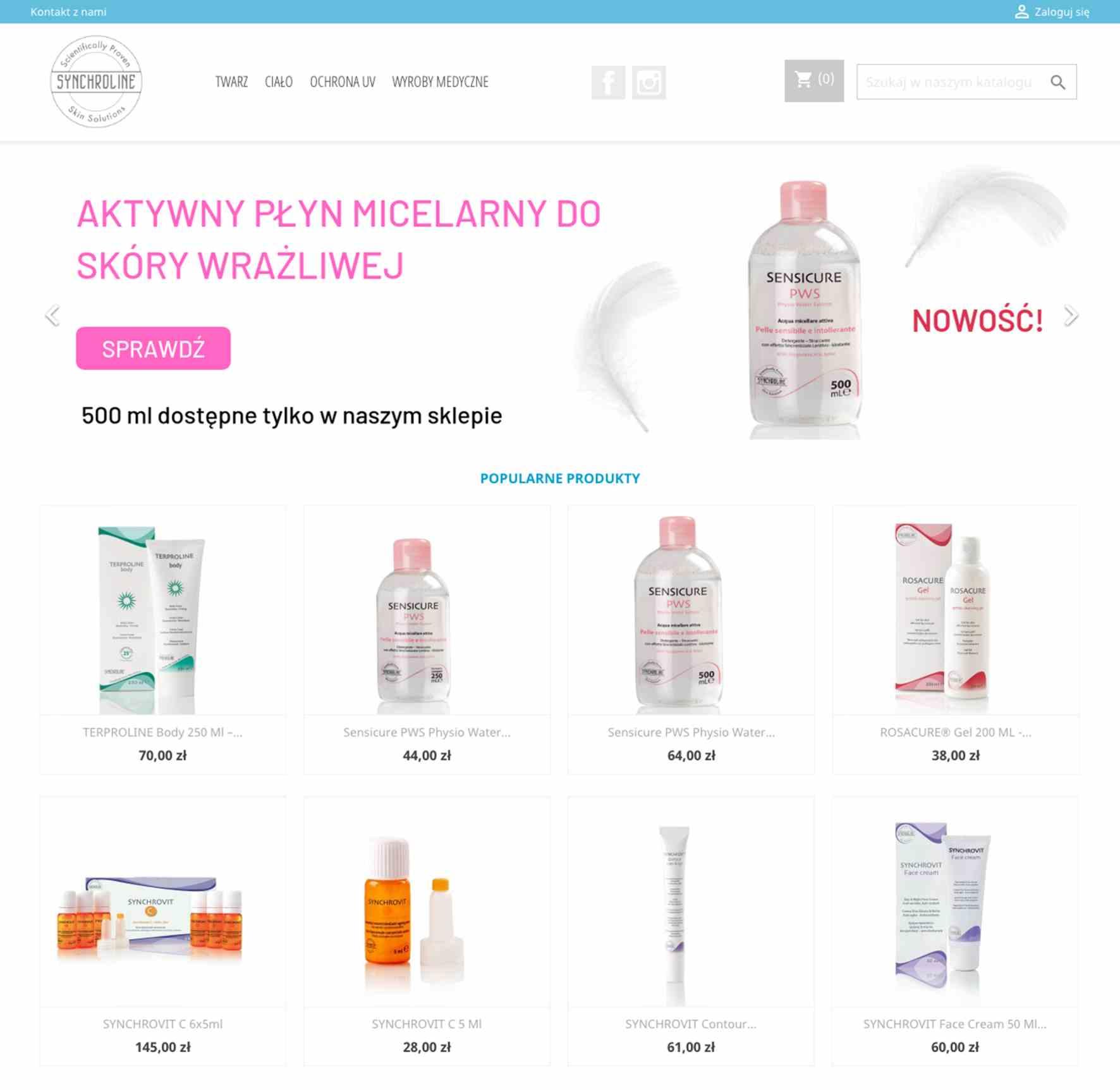 11607548dbc355 Dermokosmetyki włoskiej marki Synchroline można już kupić w nowo otwartym  oficjalnym sklepie internetowym. Pod adresem dermakrem.pl znajdziemy pełną  ofertę ...